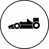 stock photo of chassis  - racing car symbol - JPG