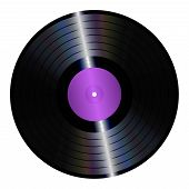picture of lp  - An illustration of an isolated lp vinyl record - JPG
