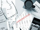 Confidential Business Papers On Desk