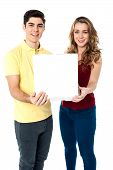 Young Love Couple With Pizza Box