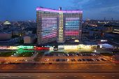 MOSCOW - MAY 12: Building at New Arbat Street at evening, on May 12, 2013 in Moscow, Russia. Length
