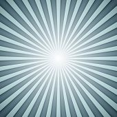 Sunburst grey and blue vector background with shadow effect.