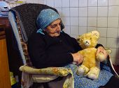 Grandmother With Teddy Bear