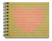 Old Notepad Pink Heart