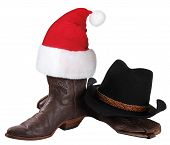 American Cowboy Hat And Western Shoes For Christmas Holiday