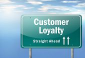 Highway Signpost Customer Loyalty
