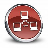 stock photo of vpn  - Icon Button Pictogram Image Graphic with Network symbol - JPG