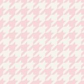 Houndstooth seamless vector pastel pink and grey pattern or tile background