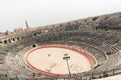 1St Century Bc Roman Amphitheatre In Nimes, France