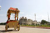 A view of mysore palace from Shiva temple's chariot
