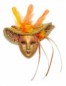 picture of carnival rio  - Carnival mask with feathers isolated on white background - JPG