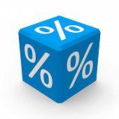 Blue Percent Button