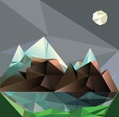 mountain low-poly style vector illustration
