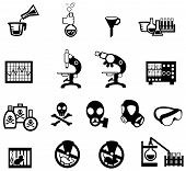 stock photo of rats  - Silhouette science chemistry and engineering tool icon set 2 create by vector - JPG
