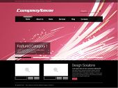Pink Modern Business Website Design Template Vector