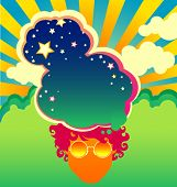 psychedelic1960s style poster background