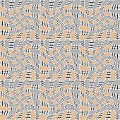 Design Seamless Monochrome Movement Illusion Geometric Pattern