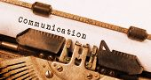 foto of nouns  - Vintage inscription made by old typewriter communication - JPG
