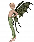 Fairy Boy in Green, Stretching
