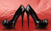 Photo Of Elegant Modern Female's Black Shoes