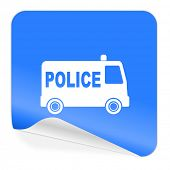 police blue sticker icon