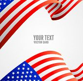 pic of democracy  - American flag border vector illustration on white - JPG