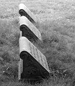 Three gravestones