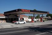 JACKSONVILLE, FL-MAY 17, 2014: A Texaco gas station in Jacksonville. Texaco is associated with the H