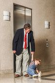 stock photo of take responsibility  - Take your toddler to work day - JPG