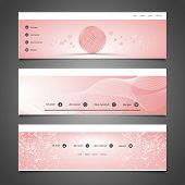 Web Design Elements - Header Design with Abstract Pattern