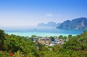 picture of koh phi-phi  - View of the Phi Phi island Thailand - JPG