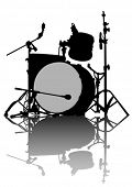 image of drum-kit  - Drum kit for rock band on a white background - JPG