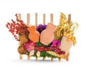 image of phylacteries  - Ukrainian souvenir that made of dried materials and plants - JPG