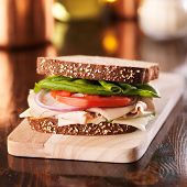 picture of deli  - cold cut turkey deli meat sandwich - JPG