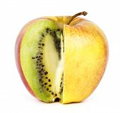 stock photo of modification  - Kiwi in apple - JPG
