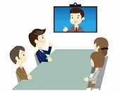 Business people in video meeting
