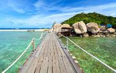 Bridge To Nangyuan Island, Suratthani, Southern Of Thailand
