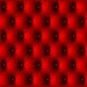 Red old leather upholstery. Seamless. Vector.