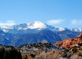 Pikes Peak im Garden of the gods