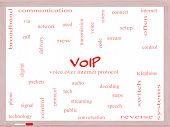 Voip Word Cloud Concept On A Whiteboard