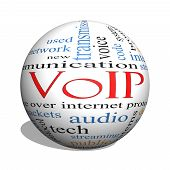 Voip 3D Sphere Word Cloud Concept