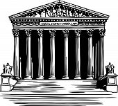stock photo of supreme court  - vector illustration of the Supreme Court building in Washington - JPG