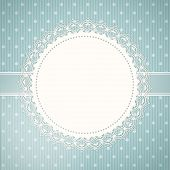 Lace Doily Background And Blue