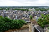 pic of anjou  - Roofs of Chinon town Vienne valley France