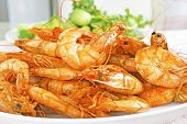 Salty And Sweet Cooked Prawn