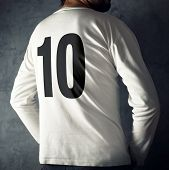 Man Wearing Sport Shirt With Number Ten