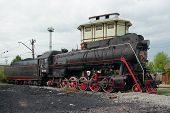 Lv-0283 Steam Locomotive, Side View, Moscow, Russia