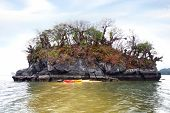 picture of langkawi  - Kayak on the shore of the island - JPG