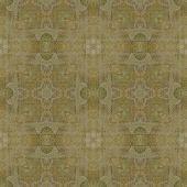 art vintage damask seamless pattern background in ecru and olive colors