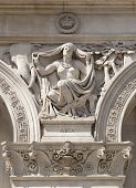 LONDON, UK - MAY 14, 2014: Symbol of Asisa. Decorative element Government building, Parliament s
